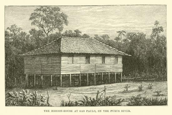 The Mission-House at Sao Paulo, on the Purus River--Giclee Print