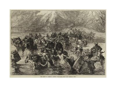 The Mission to Yarkund, Crossing the Shayok Below the Khardung Pass--Giclee Print