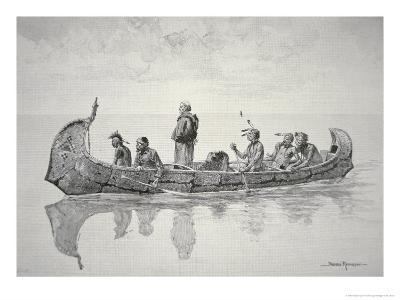 The Missionary-Frederic Sackrider Remington-Giclee Print