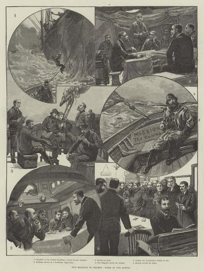 The Missions to Seamen, Work in the Downs-Edward Morant Cox-Giclee Print