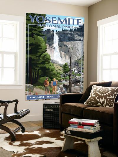 The Mist Trail - Yosemite National Park, California-Lantern Press-Wall Mural
