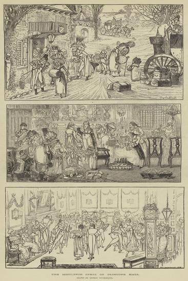 The Mistletoe Sprig of Oldstone Hall-George Cruikshank-Giclee Print