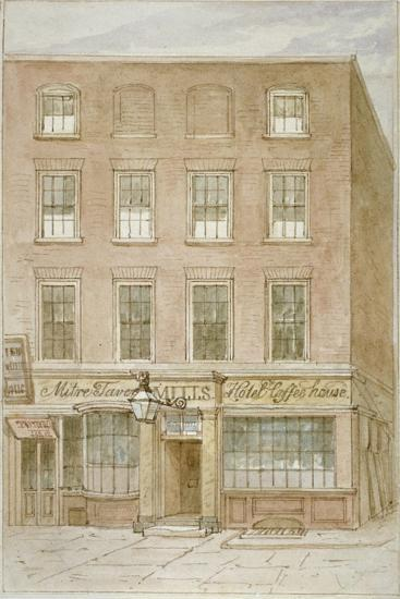 The Mitre Tavern, Coffee House and Hotel on Mitre Court, Fleet Street, City of London, 1850-James Findlay-Giclee Print