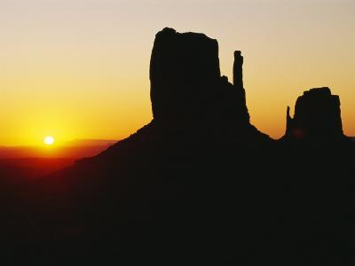 The Mittens, Monument Valley at Sunset, Arizona, USA-Sylvain Grandadam-Photographic Print