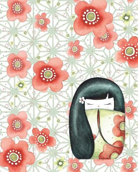 The Mizuki Dolls: Hanako-Sam Bamford-Art Print