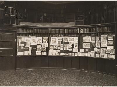 The Mnemosyne Atlas at the Reading Room of the Kunstwissenschaftliche Bibliothek Warburg, 1927-Aby Warburg-Giclee Print