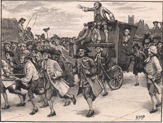 The Mob Releasing Mr Wilkes on His Way to Prison Ad 1768-Henry Marriott Paget-Giclee Print