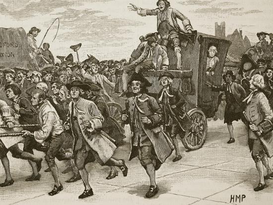 The Mob Releasing Mr Wilkes on His Way to Prison--Giclee Print