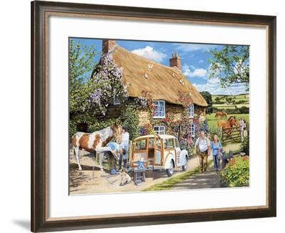 The Mobile Farrier-Trevor Mitchell-Framed Giclee Print