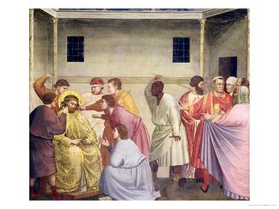 The Mocking of Christ, circa 1305-Giotto di Bondone-Giclee Print
