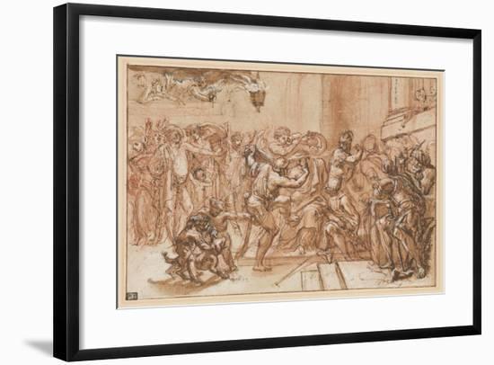 The Mocking of Christ-Domenichino-Framed Giclee Print
