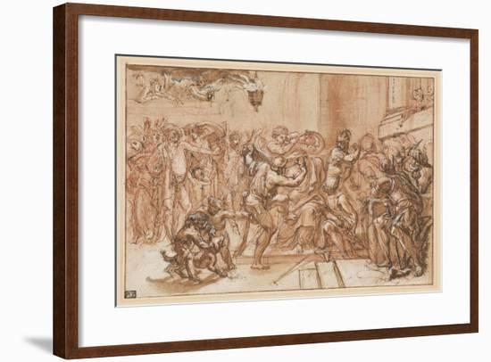 The Mocking of Christ-Domenichino-Framed Giclee Print