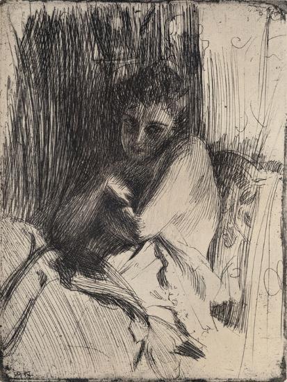 The Model, 1880-1906, (1906)-Anders Leonard Zorn-Giclee Print