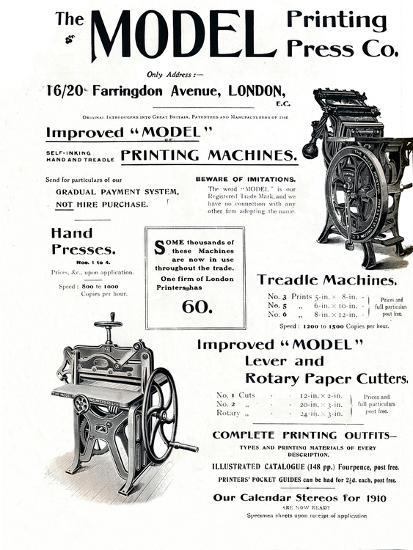 'The Model Printing Press Co.', 1910-Unknown-Giclee Print