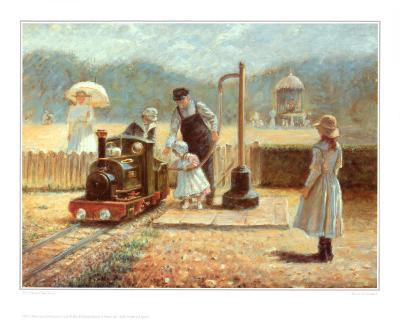 The Model Railway-Rene Legrand-Art Print