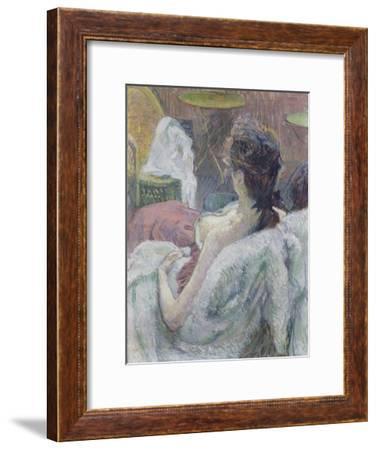 The Model Resting-Henri de Toulouse-Lautrec-Framed Art Print
