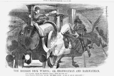 The Modern Dick Turpin; Or, Highwayman and Railwayman, 1868-John Tenniel-Giclee Print