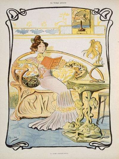 The Modern-Style Woman, Illustration from 'Au Temps Present' Magazine C.1895--Giclee Print