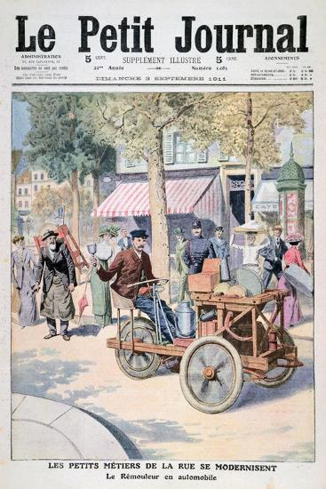 The Modernisation of the Street Traders: the Knife-Grinder's Car, 1911--Giclee Print