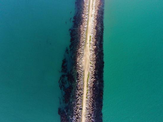 The Mole, Aramoana, at Entrance to Otago Harbour, Dunedin, South Island, New Zealand-David Wall-Photographic Print