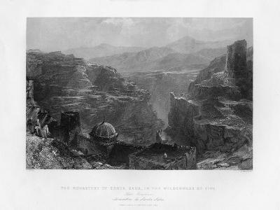 The Monastery of Santa Saba (Mar Sab), Israel, 1841-S Bradshaw-Giclee Print