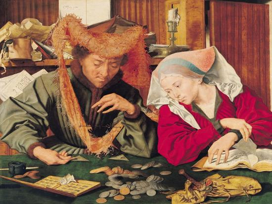 The Money Changer and His Wife, 1539-Marinus van Roejmerswaelen-Giclee Print