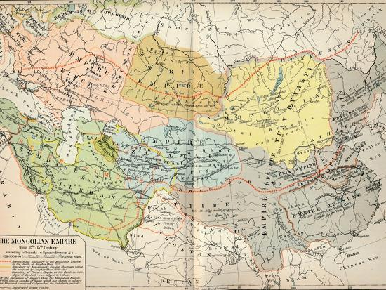 'The Mongolian Empire from 12th-15th Century', c1903, (1904)-Unknown-Giclee Print