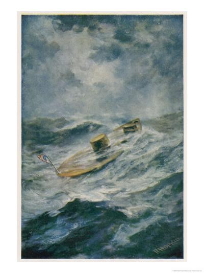 "The ""Monitor"" in a Storm-Robert Hopkin-Giclee Print"