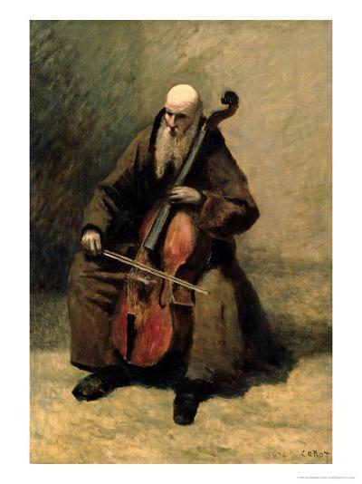The Monk, 1874-Jean-Baptiste-Camille Corot-Giclee Print