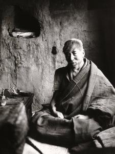 The Monk Tsampa Tendar in Cell at Ritra Near Gyantse, Tibet