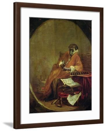 The Monkey Antiquarian, 1740-Jean-Baptiste Simeon Chardin-Framed Giclee Print