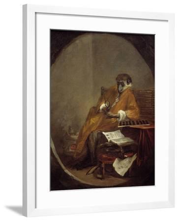 The Monkey Antiquarian by Jean Baptiste Simeon Chardin--Framed Photographic Print