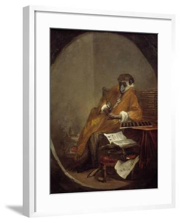 The Monkey Antiquarian by Jean Baptiste Simeon Chardin--Framed Photographic Print
