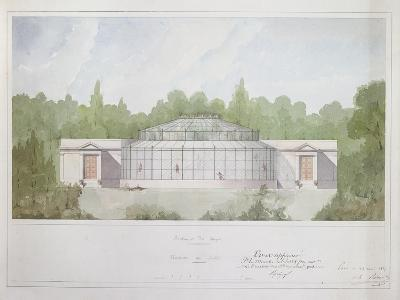 The Monkey House at the Jardin Des Plantes in Paris, 1835 (Ink and W/C on Paper)--Giclee Print