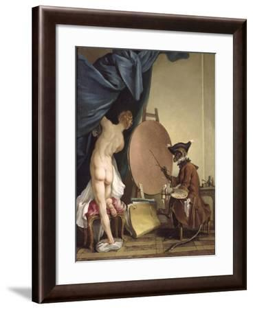 The Monkey Painter-Jean Baptiste Deshays De Colleville-Framed Giclee Print