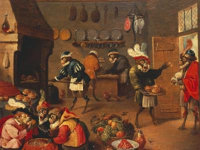 The Monkey's Cooks-David Teniers the Younger-Giclee Print