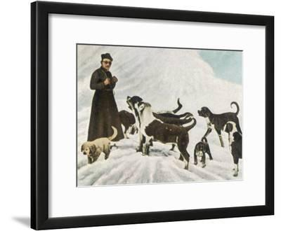 The Monks of Saint Bernard Together with Their Dogs Visit Tibet