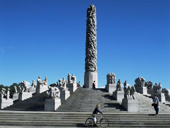 The Monolith, Gustav Vigeland Sculptures, Frogner Park, Oslo, Norway, Scandinavia-G Richardson-Photographic Print
