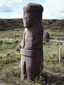 The Monolith of the Frail or the Monolith of the Friar, Tiahuanacu or Tiwanaku