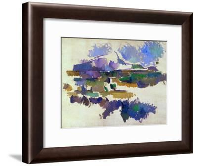 The Mont Sainte-Victoire, Seen from Lauves, 1905-Paul Cézanne-Framed Giclee Print