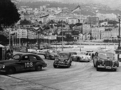 The Monte Carlo Rally, Monaco, 1954--Photographic Print