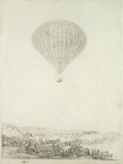 The Montgolfier Brothers, C.1800-08-Francisco de Goya-Giclee Print