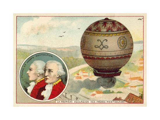 The Montgolfier Brothers First Balloon Ascent, 1783--Giclee Print