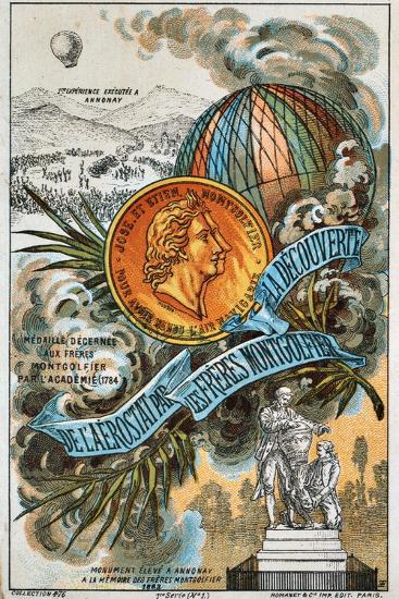 The Montgolfier Brothers, French Ballooning Pioneers--Giclee Print