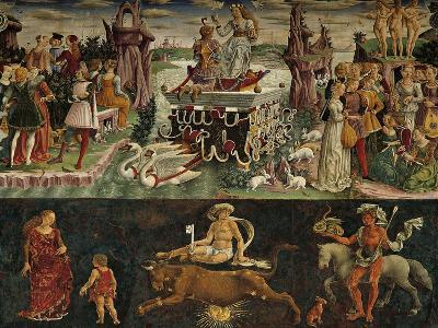 The Month of April: Taurus Astrological Symbols and the Triumph of Venus--Giclee Print