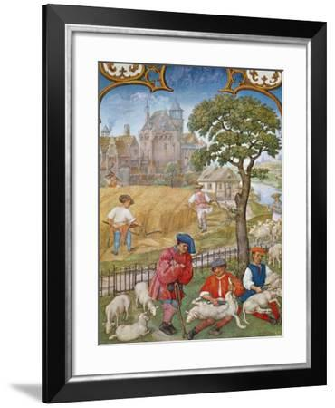 The Month of July--Framed Giclee Print