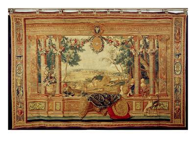 The Month of June/ Chateau of Fontainebleau, from the Series of Tapestries-Charles Le Brun-Giclee Print