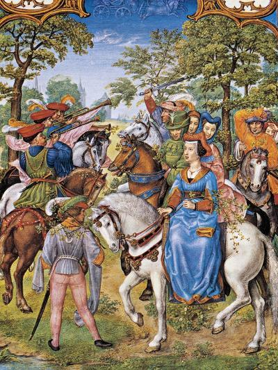The Month of May, Tree Festival, Miniature from the Grimani Breviary, Folio 5, Verso, Flanders--Giclee Print