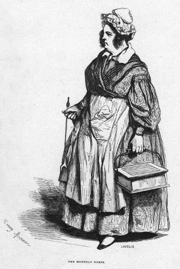 The Monthly Nurse, 19th Century- Lavieille-Giclee Print