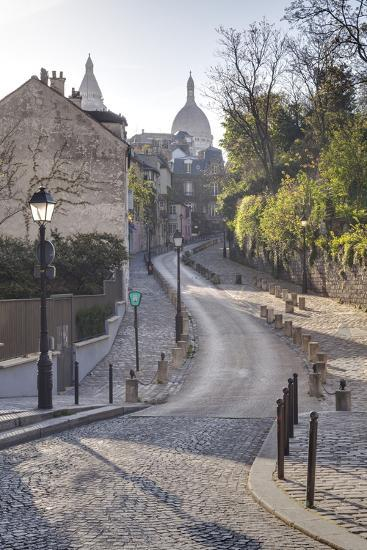 The Montmartre Area with the Sacre Coeur Basilica in the Background, Paris, France, Europe-Julian Elliott-Photographic Print